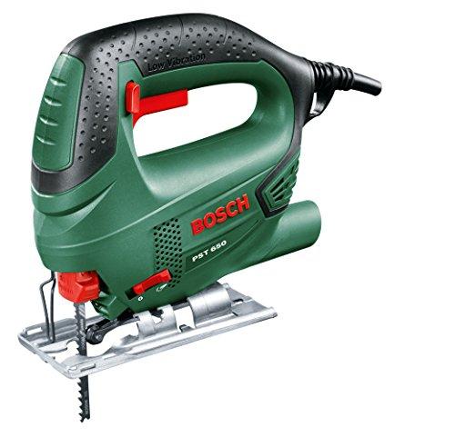 Bosch Stichsäge PST 650 (500 Watt, Schnitttiefe in Stahl/Holz 4mm/65mm, im Koffer) 1