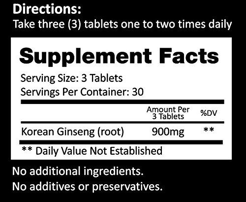 Auragin Authentic Korean Red Ginseng – Made in Korea – 6 Year Roots – No Additives or Other Ingredients – 100% Red Panax Ginseng in Every Tablet by Auragin (Image #5)