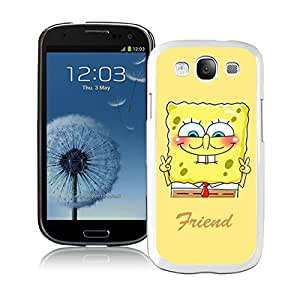Best Friend SpongeBob Patrick 1 White For Samsung Galaxy S3 i9300 Case Genuine and Cool Design