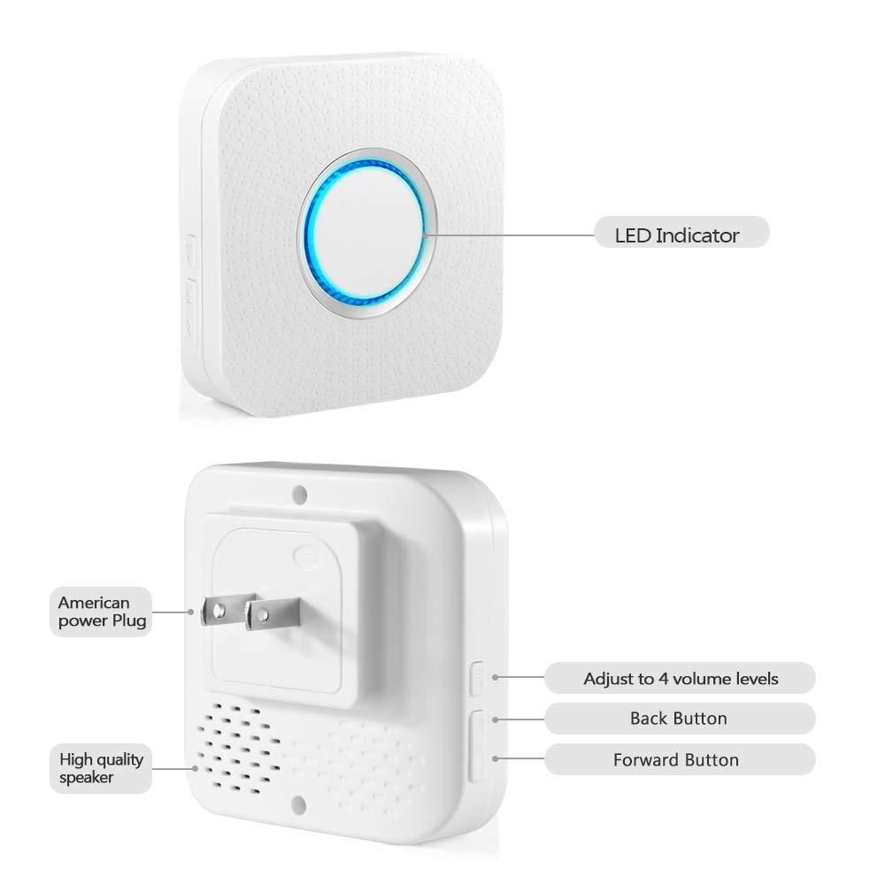 Wireless Door Sensor Alarm Chime, BITIWEND Home Security Window Entry Alert With Operating Range 600 feet/52 Chimes For Home/Garage/Shop (1 Door Sensor & 1 Receiver) by BITIWEND (Image #2)
