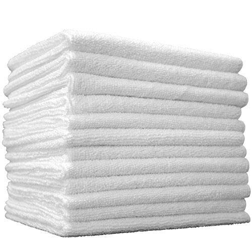 ((12-Pack) 14 in. x 14 in. Commercial Grade All-Purpose Microfiber HIGHLY ABSORBENT, LINT-FREE, STREAK-FREE Cleaning Towels - THE RAG COMPANY)