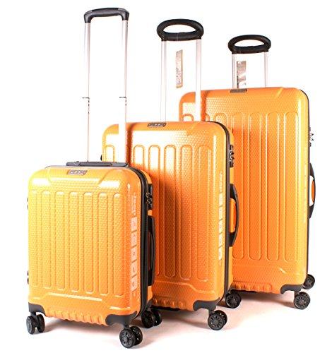 67acd274a5 Orange Mustard Jeep Plateau High-Quality Water Resistant 4 Wheeled Luggage  Set of 3: Amazon.co.uk: Luggage