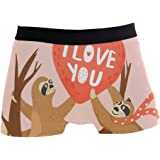 Jereee Cute Brown Sloth Trees Mens Underwear Soft Polyester Boxer Brief for Men Adult Teen Children Kids