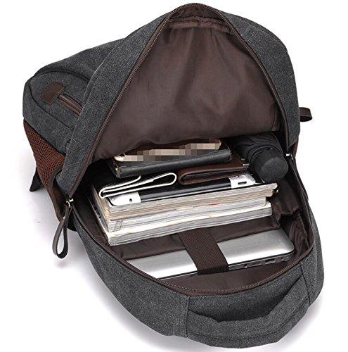 LF&F EuropäIsche Mode Casual Leinentasche Outdoor-UmhäNgetasche Wanderrucksack Wochenende GepäCk Tasche Bergsteigen Reiten Rucksack TäGlicher Gebrauch Laptop-Rucksack C 8m0EYkNxu