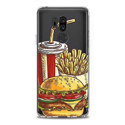 Lex Altern LG TPU Case G7 Fit One ThinQ G6 V40 V35 Plus V30 V20 Q8 K8 Tasty Food Clear Potatoes Pattern Cover Soft Silicone 2018 Print Protective Burger Cola Transparent Kids Girls Ladies Women Top ()