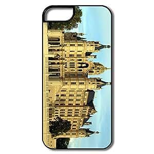 IPhone 5 5S Hard Plastic Cases, European Castle White/black Cases For IPhone 5 by icecream design