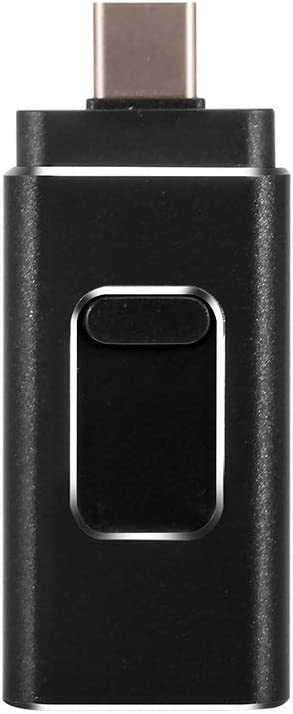 S Black 10-11 Size : 32G Computers Accessories 16G//32G//64G//128G USB 3.0 Flash Drive Push-Pull Thumb Drive Aluminum Alloy Mobile Phone Dual-use Reading Speed Up to 40-90MB