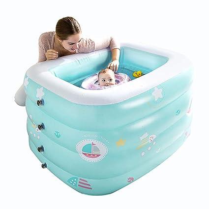 Amazon.com: Piscina hinchable gruesa para bebé, protección ...