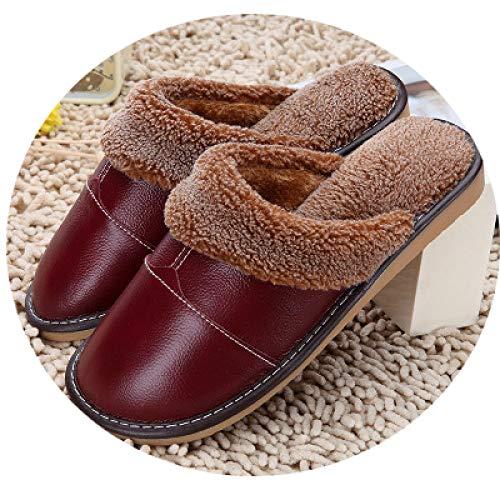 Pantofole E Uomo Da Antiscivolo Dalla Invernali Donna Flip Rosso Casual flop Moda Vino Di Cotone Nuove qTPExC7w