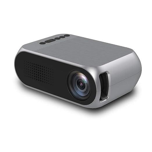Proyector, mini proyector con pantalla de proyección, video ...