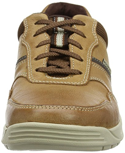 Rockport Randle Ubal Lea Tan, Scarpe Stringate Derby Uomo Marrone (Tan)
