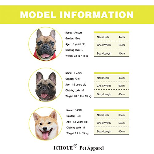 iChoue Pets Dog Clothes Hoodie Hooded French Bulldog Costume Pullover Cotton Winter Warm Coat Puppy Corgi Clothing - Yellow/Size M by iChoue (Image #1)'
