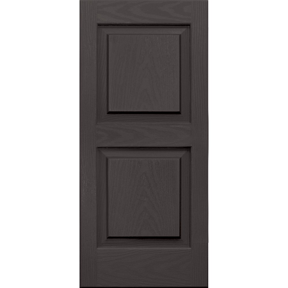Vantage 3114031018 14X31 Raised Panel Shutter/Pair 018, Charcoal
