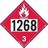 Labelmaster ZT2-1268 UN 1268 Flammable Liquid Hazmat Placard, Tagboard (Pack of 25)