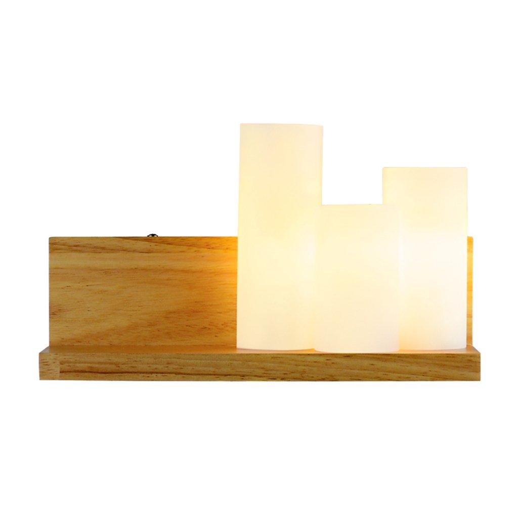 Wandlampe Wandlampe des modernen unbedeutenden hölzernen Wandlampenschlafzimmer-Nachttischlampengang-Gangs Massivholz Wandlampe