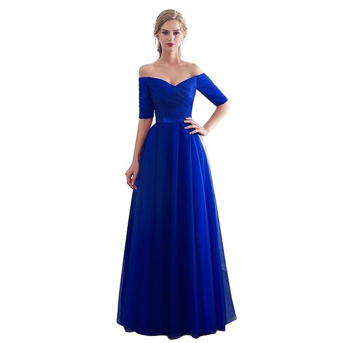 2330a7a797ff Beauty-Emily Lungo Cerimonia Abito da Sera Elegante Damigella per Le Donne-  Vestiti da Damigelle Onore