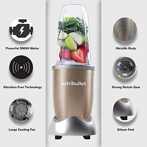 Nutribullet-PRO-High-Speed-BlenderMixerSmoothie-Maker-900-Watts-12-Pcs-SetGold