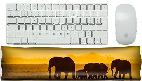 - MSD Keyboard Wrist Rest Pad Office Decor Wrist Supporter Pillow silhouettes of elephants amboseli national park kenya Image 5380911 Customized Tablemat