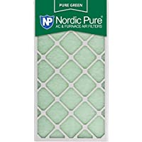 Nordic Pure 16x30x1PureGreen-3 AC Furnace Air Filters, 16 x 30 x 1, Pure Green