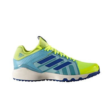adidas Men s LUX Field Hockey Shoe Solar Yellow Collegiate Royal Vapour  Blue 4 M 5297faa3e5cd