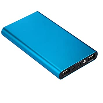 OYSOHE Banco Externo portátil Ultrafino del Poder del Cargador de batería 20000mAh para Samsung Galaxy/Hawei/Xiaomi/Oneplus/OPPO (Azul)