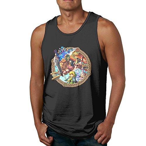 SUPERMORE The Legend Of Zelda Spirit Tracks Men's Tank Top Vest Sleeveless (Legend Of Zelda Spirit Tracks Walkthrough Ds)