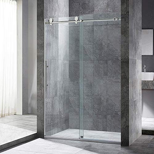 WOODBRIDGE MSDC4876-B Frameless Sliding Shower, 44