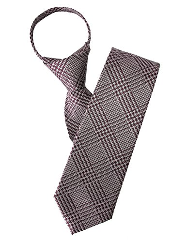 H2H Mens Casual Comfortable Zipper Check Patterned Neck Tie Of Various Styles