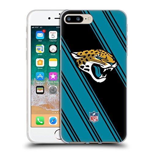 Official NFL Stripes 2017/18 Jacksonville Jaguars Soft Gel Case for Apple iPhone 7 Plus / 8 (Jacksonville Jaguars Football Case)
