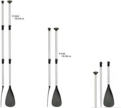 BRAVO SUP PADDEL FIBERGLAS 3 TEILIG VERSTELLBAR 175-215 cm TELESKOP NEUES DESIGN