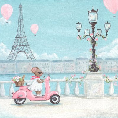 little-pink-vespa-canvas-art-size-10-h-x-10-w-x-15-d