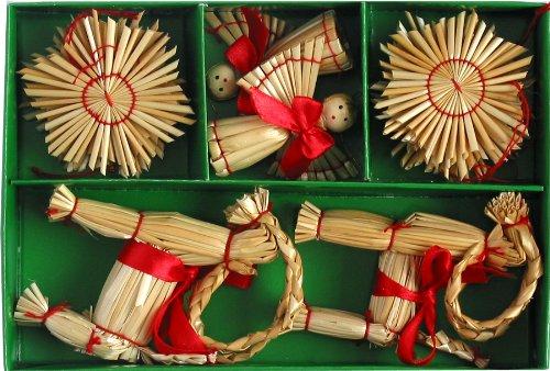 ScandinavianShoppe Straw Ornament Set - 16 pc.