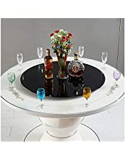 Durable Tempered Glass Lazy Susan Turntable Serving Plate Dining Table Centerpieces Rotating Tray - Black - No Tilt - 27/31/35 inch//73 (Size : 88cm/35in)