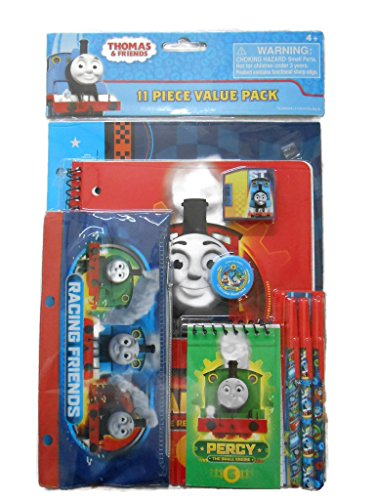 Thomas the Train Tank Stationery Set 11 Pieces Value Pack. Notebooks Pens Pencil Case (Genuine Value Pack)