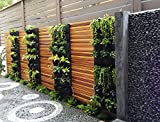 Delectable Garden 12 Pocket Hanging Vertical Garden Wall Planter For Yard Garden Home Decoration
