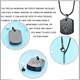 Pet paw Carved Dog Tags Pet Urn Jewelry Memorial