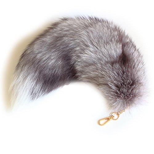 Fosrion Fox Tail Keychain Clasp (Sky Grey)]()