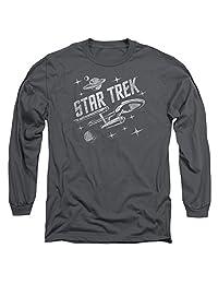 Star Trek/Through Space Mens Long Sleeve Shirt