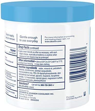 51 - Desitin Daily Defense Baby Diaper Rash Cream With 13% Zinc Oxide, Barrier Cream To Treat, Relieve & Prevent Diaper Rash, Hypoallergenic, Dye-, Phthalate- & Paraben-Free, 16 Oz