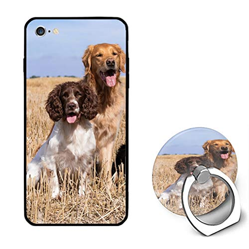 iPhone 6 Case,iPhone 6s Case,Border Collie Family for Girls Women Best Protective Rubber with Ring Kickstand Compatible for iPhone 6/iPhone 6s -