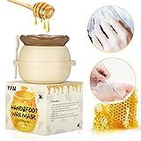 #3: Y.F.M - Milk & Honey Hand Wax Mask Moisturizing Hydrating Nourish Whitening Skin Care Peel Off Hand & Foot Mask - Hand Care For Woman/Man 6 fl.oz