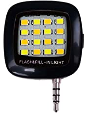 Sungpunet 3,5 Millimetri Fill Flash Light Luce Portatile Mini Phone LED Plug Smartphone Selfie LED Macchina Fotografica del Cellulare Video Lampada di Notte Nero (Batteria Inclusa)