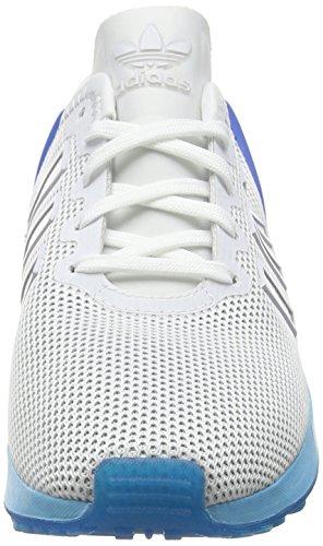 adidas Zx Flux Adv, Zapatillas de Running Unisex Adulto, 39 1/3 EU Blanco (Ftwrr White/Ftwrr White/Blue Glowftwrr White/Ftwrr White/Blue Glow)