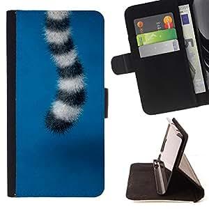 - Cute Furry Tail Animal Sweet - Estilo PU billetera de cuero del soporte del tir???¡¯???3n [solapa de cierre] Cubierta- For HTC Desire 820 ( Devil Case )
