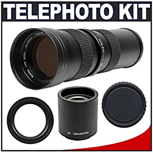 Kenko 420-800mm Super Telephoto Zoom Lens with 2x Teleconverter for Nikon D40, D40x, D60, D5000, D80, D200, D300, D3, D700 Digital SLR Cameras