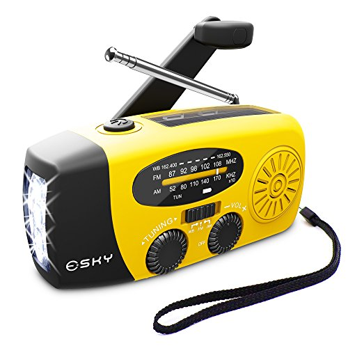 Esky Solar Weather Radios Hand Crank Self Powered Emergency, used for sale  Delivered anywhere in Canada
