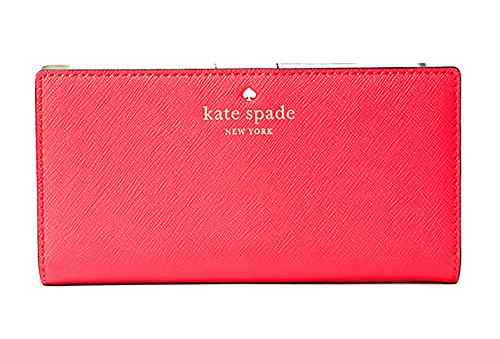 Kate Spade New York Mikas Pond Avenue Stacy Leather Wallet (Crab Red) by Kate Spade New York