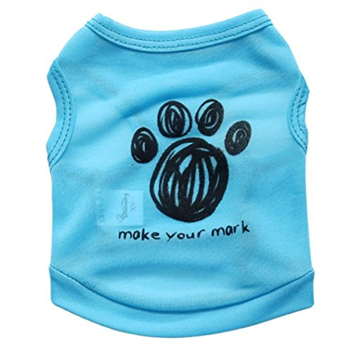 Price comparison product image Hot Sale2018 Big PromotionDog ClothesZYEEHot Dog Vest Pet Clothes Apparel Vest Costumes Summer (M, Sky Blue)