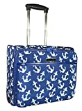 Ever Moda Anchors Rolling Wheeled Laptop Case (Navy Blue)