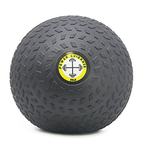 POWER GUIDANCE Slam Ball, Medicine Ball, Weight Available: 6, 8, 10, 15, 20, 25, 30 Lbs, Great for Core Training & Cardio Workouts (25)